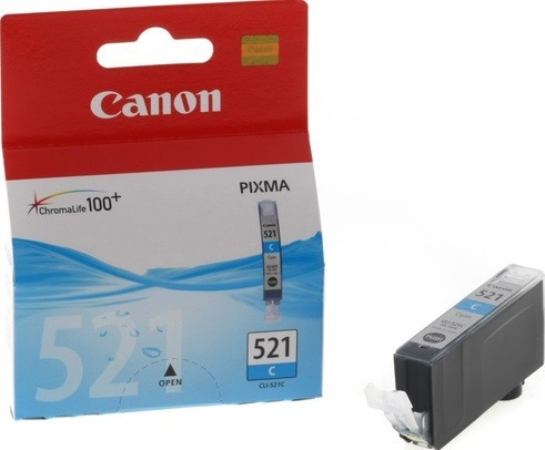2934B004 Canon CLI-521C Картридж для Pixma iP3600, 4600, MP540 ,MP620, MP630, MP980, голубой, 535стр.