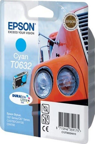 C13T06324A10 Картридж Epson для C67/87/CX3700/4100/4700 Cyan Ink Cartridge (cons ink)
