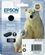 C13T26214010 Картридж Epson 26XL Pig BK для Expression Premium XP-600, 605, 700, 800 (cons ink)