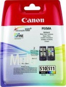 2970B010 Canon PG-510/CL-511 Картридж для PIXMA MP240/260/480, MX320/330, 4 цвета, 244 стр.